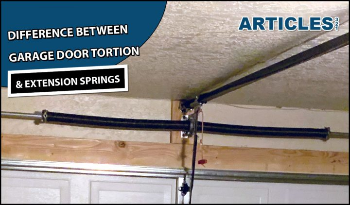 Difference between garage door torsion and extension springs