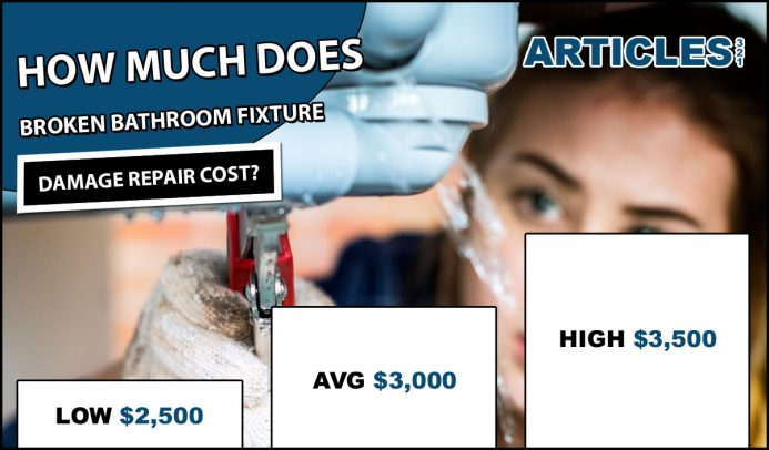 How Much Does Broken Bathroom Fixture Damage Repair Cost?