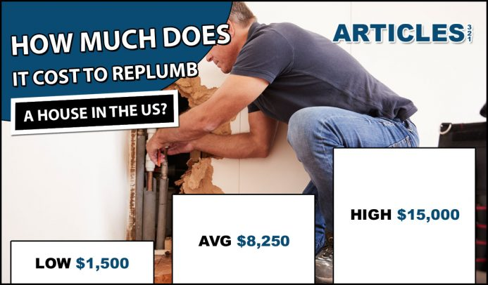 Average Cost to Replumb a House